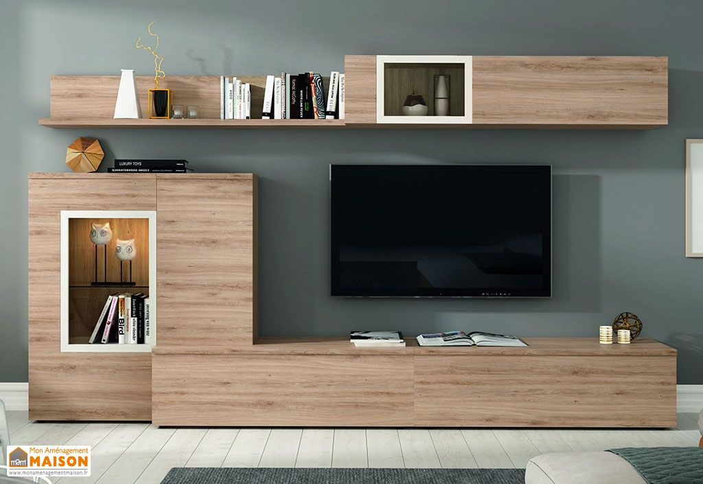 ensemble meuble tv design mural sofia 300x195cm