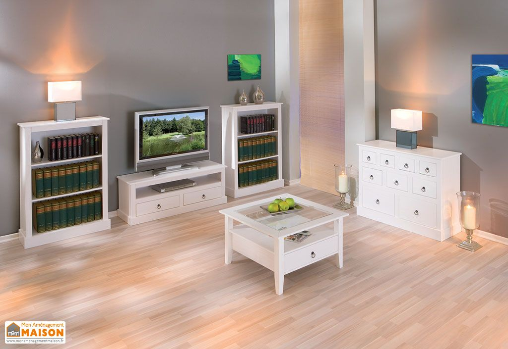 salon tele complet meuble tv buffet table basse bibliotheque s