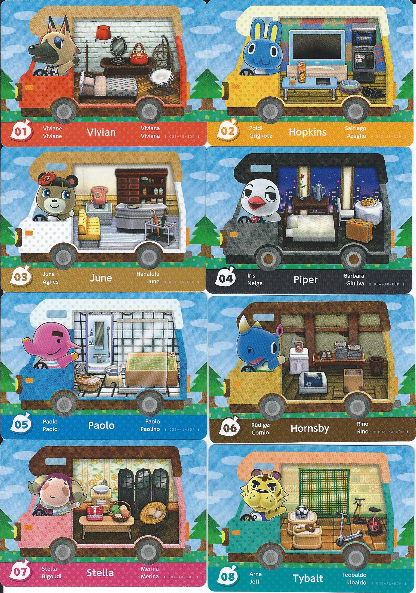 Scans Of All 50 New Animal Crossing New Leaf Amiibo Cards