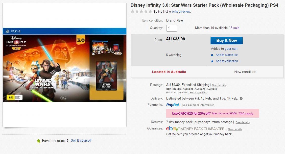 Disney Infinity 3.0 Star Wars Special Edition @ eBay