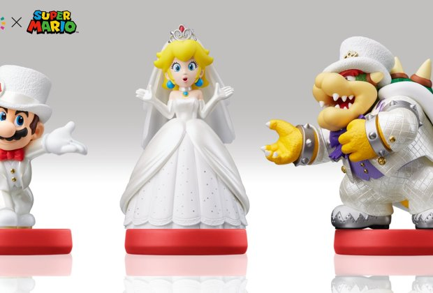 Super Mario Odyssey - Mario, Peach and Bowser Wedding amiibo