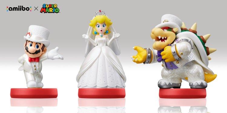 Super Mario Odyssey - Mario, Peach and Bowser Wedding amiibo