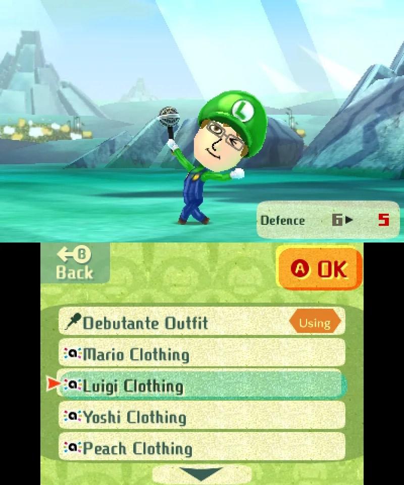 Miitopia amiibo Costume - Luigi