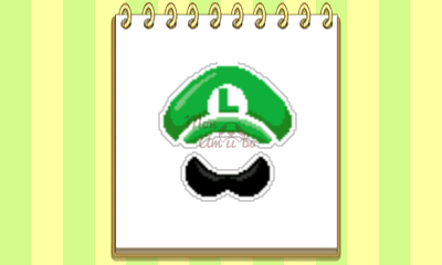New Style Boutique 3/Style Savvy 3 - Luigi amiibo emblem