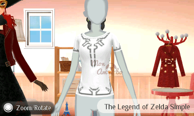 New Style Boutique 3/Style Savvy 3 - Legend of Zelda amiibo pattern