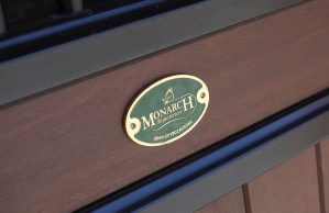 Monarch Equestrian Badge on Stable Door