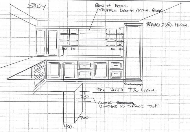 Line Drawing of Office