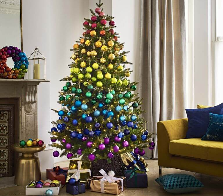 Rainbow Christmas Tree Trend