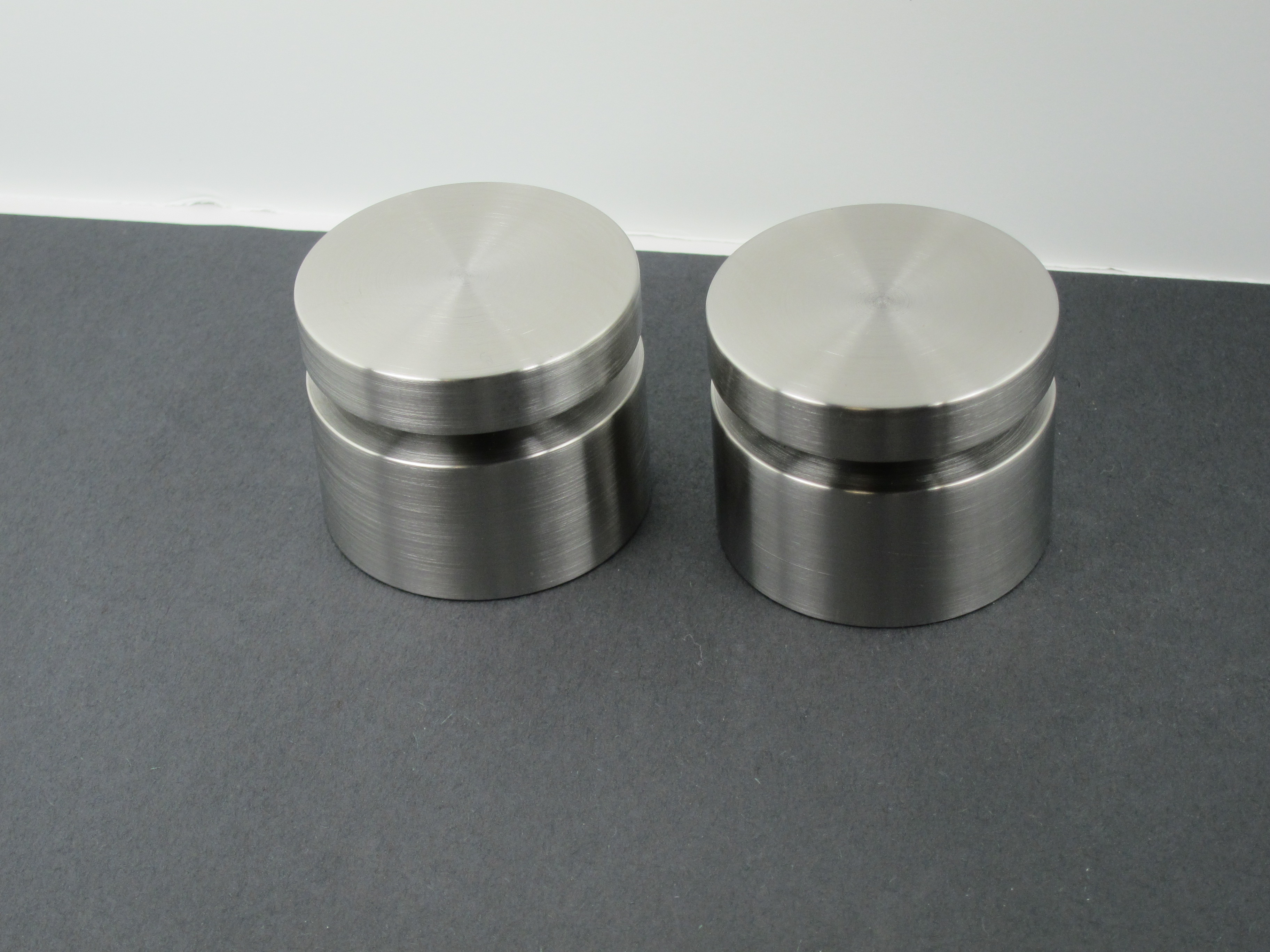 """2 Inch Diameter Stainless Standoffs – 2"""" Dia SS Countertop Supports"""