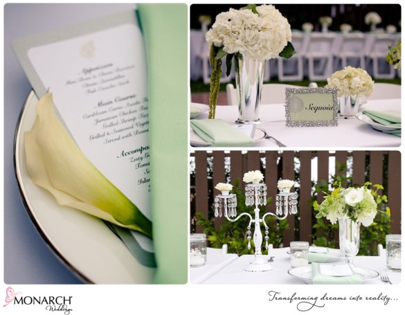 shabby-chic-wedding-mint-green-silver-white-chandeliers-table-setting