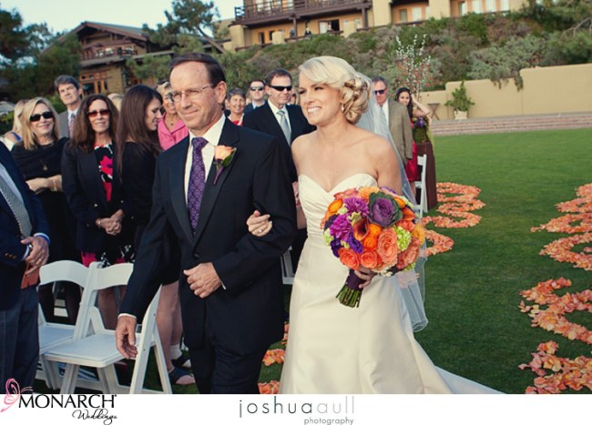 lodge-at-torrey-pines-ceremony-orange-rose-petal-path