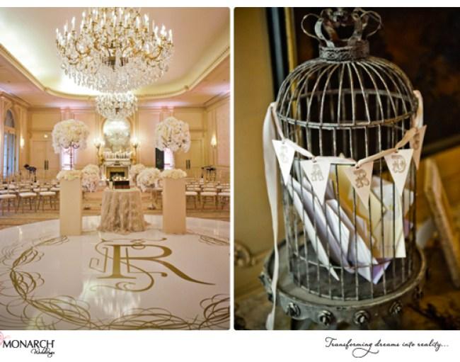 Blush-french-vintage-westgate-hotel-wedding-birdcage-card-holder