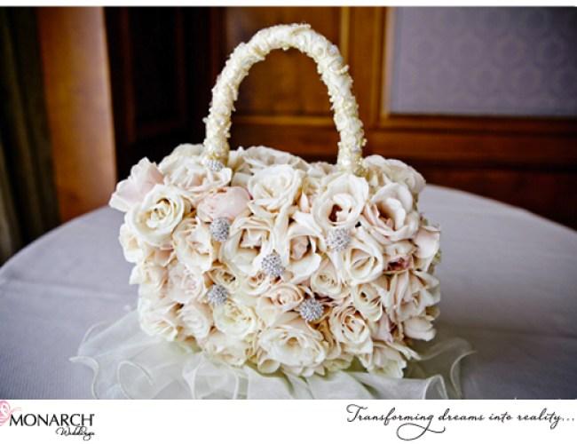 Flower-and-rhinestone-flowergirl-purse-french-vintage-wedding-Westgate-hotel
