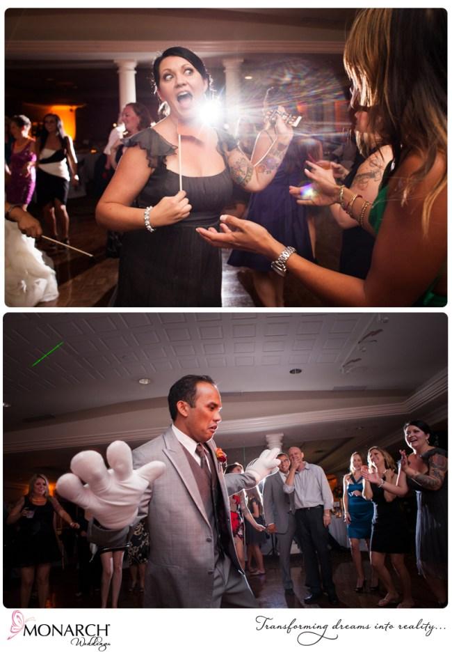 Bridesmaids-dancing-orange-gray-red-wedding-admiral-kidd-clubb