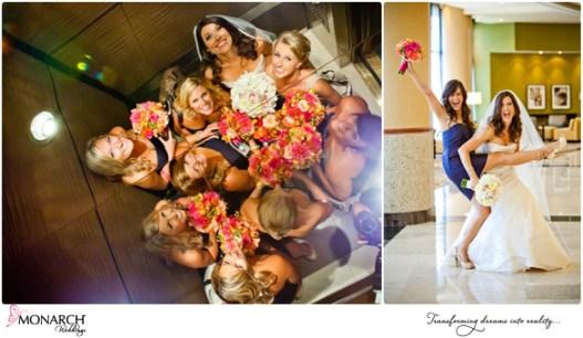 Bridesmaids-in-elevator-royal-blue-bridesmaid-dress-prado-wedding