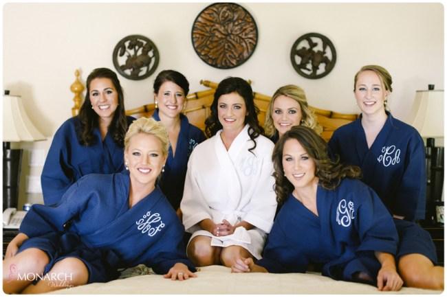 Garden-chic-wedding-monogrammed-robes-for-bridesmaids
