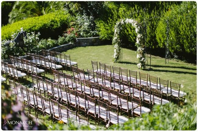 Garden-Chic-Rustic-Wedding-Arbor-Fruitwood-Chiavari-Chairs
