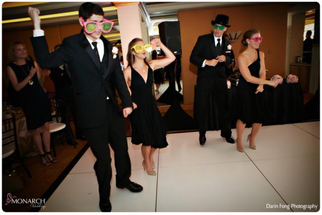 Blush-black-white-wedding-at-La-Valencia-Grand-Entrance