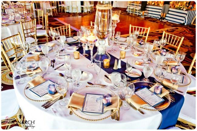 White-linen-blue-runner-Nautical-theme-wedding-hotel-del-coronado