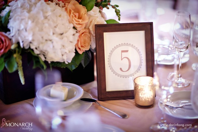Lodge-at-Torrey-pines-wedding-reception-table-number