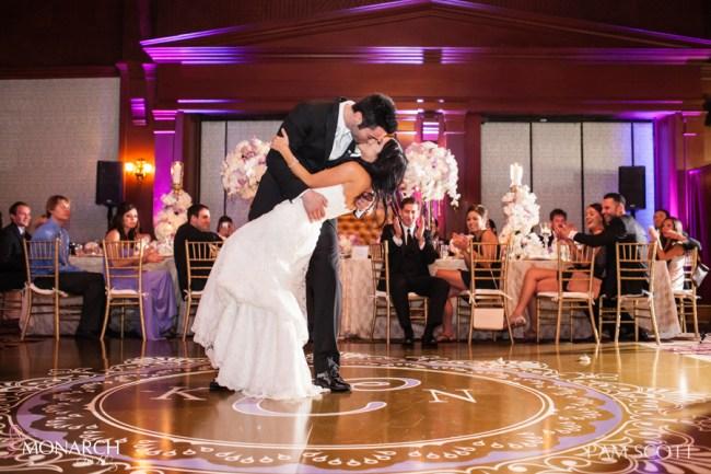 First-dance-hotel-del-wedding-custom-dancefloor-lace-linen-san-diego-wedding-planner