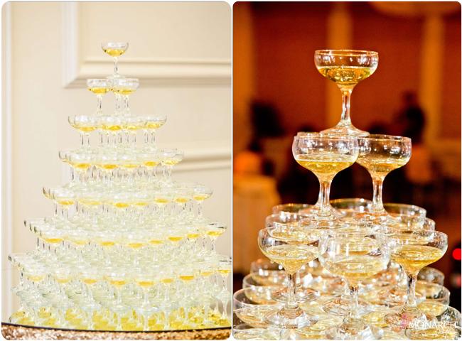 Champagne-tower-us-grant-hotel-gatsby-wedding-