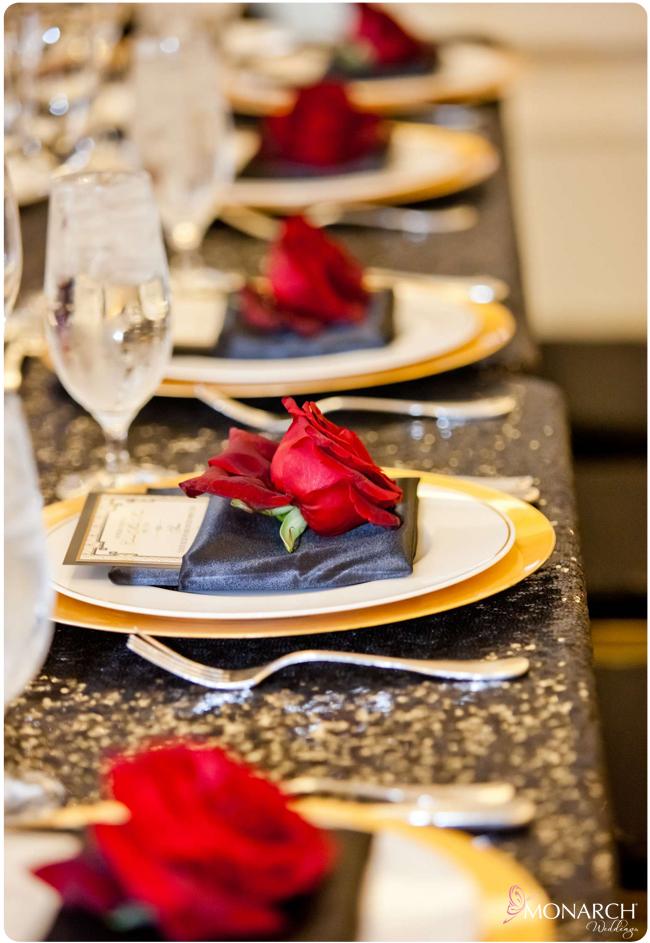 Gatsby-wedding-Us-Grant-Black-Sequin-linen-red-roses