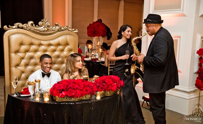 Gold-throne-chair-black-sequin-linen-sweetheart-table