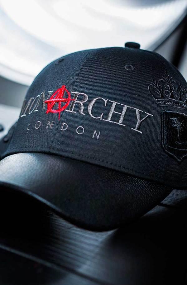 Monarchy London, Luxury Leather Goods for Stylish Gentlemen. Men's luxury black leather cap.