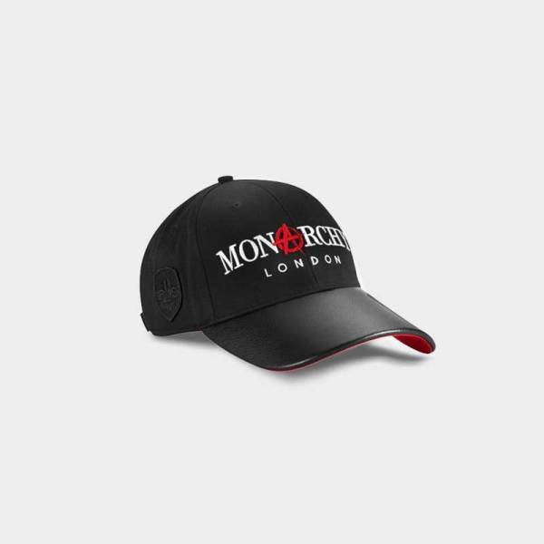 Monarchy London, Luxury Leather Goods for Men and Women. Men's and Women's luxury black leather cap.