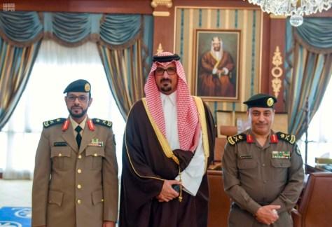 المدينة المنورة : سعود بن خالد يقلد نائب مدير الشرطة رتبته الجديدة