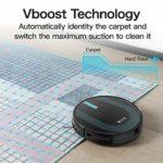 Proscenic Aspirateur Robot 850T, Contrôle avec Alexa et Google Home et application, fonction d'essuyage, Super Aspiration de 3000 Pa pour les tapis et sols durs, Aspirer et Laver en même temps