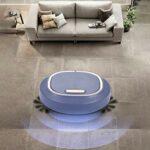 Aspirateur robot à forte aspiration 3 en 1 – Aspirateur robot intelligent – 1200 mAh – USB – Aspirateur à batterie pour sols en bois, carrelage et tapis