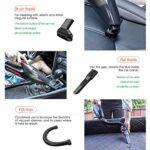 VIY Aspirateur à Main sans Fil Aspirateur de Voiture Portable 120W avec Fonction Huimide & Sèche Filtre HEPA Lavable et 2 Buses, Rechargeable, pour Maison,Black(Wireless)