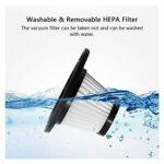 Haute qualité Aspirateur sans Fil Portable Portable Voiture aspirateur de Voiture pour aspirateur de Voiture aspirateur Voiture Vaccum nettoyeurs USB pour Voiture, Maison (Color : Black)