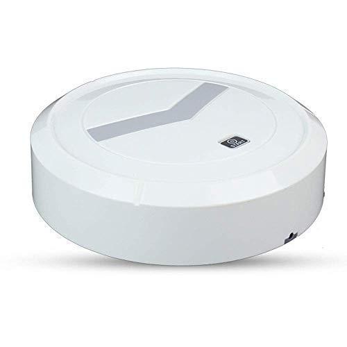 LLKK Aspirateur robot ménager et balai à franges avec aspiration puissante pour poils d'animaux et sols durs (couleur : blanc, taille : 23 x 23 x 7 cm) (couleur : blanc, taille : 23 x 23 x 7 cm)