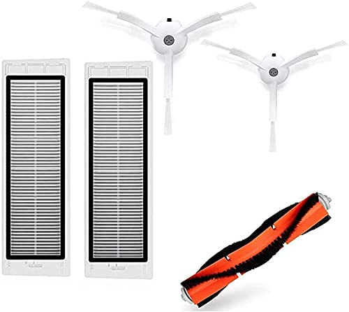 Home Cleaning Pièces de rechange compatibles avec Xiaomi MiJia 1st pour aspirateur robot Roborock S50 S51 S55 S5 E20 E25 Kit C10 T6 T60 T65 (couleur : kaki foncé) (couleur : gris clair)