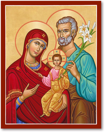 Icons Of Christ Holy Family Portrait Style Icon