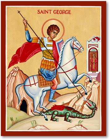 Men Saint Icons St George And Dragon Icon Monastery Icons
