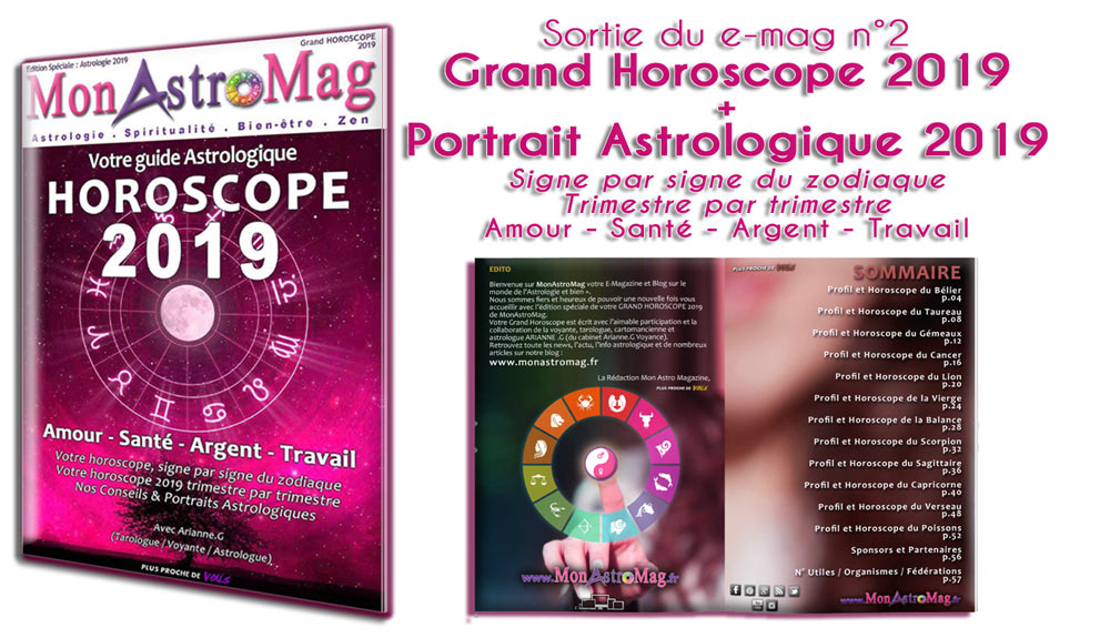 Sortie du e-mag Grand Horoscope 2019
