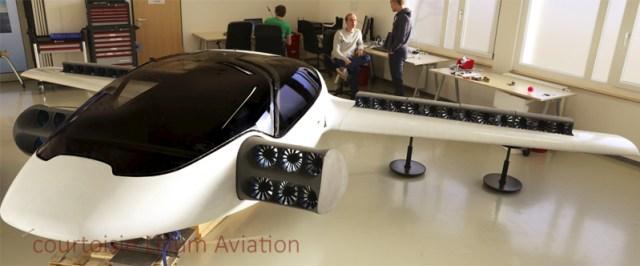La voiture volante Lilium Jet monastuce