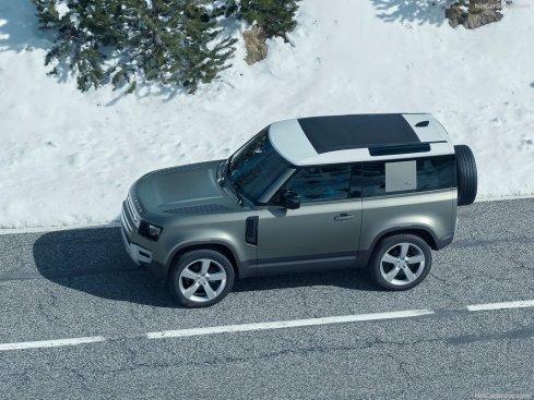 Galerie Land Rover Defender 2020 version 90 vu du dessus