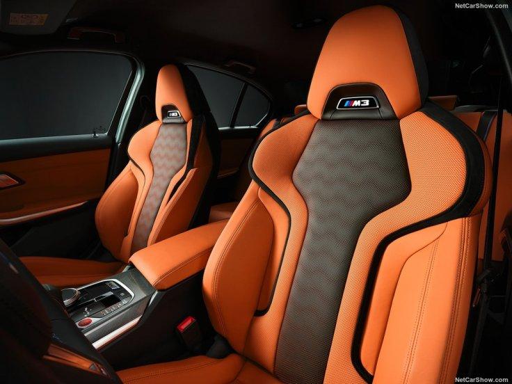 BMW M3 2021 sièges