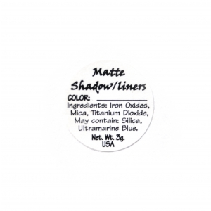 Ultra-Matte Shadow/Liner Ingredient Label
