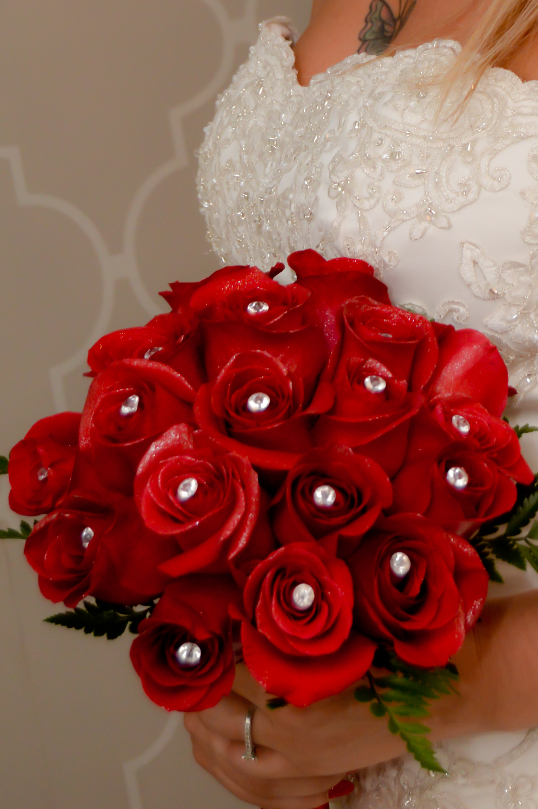 18 Rose Hand Tied Bridal Bouquets  Las Vegas Weddings