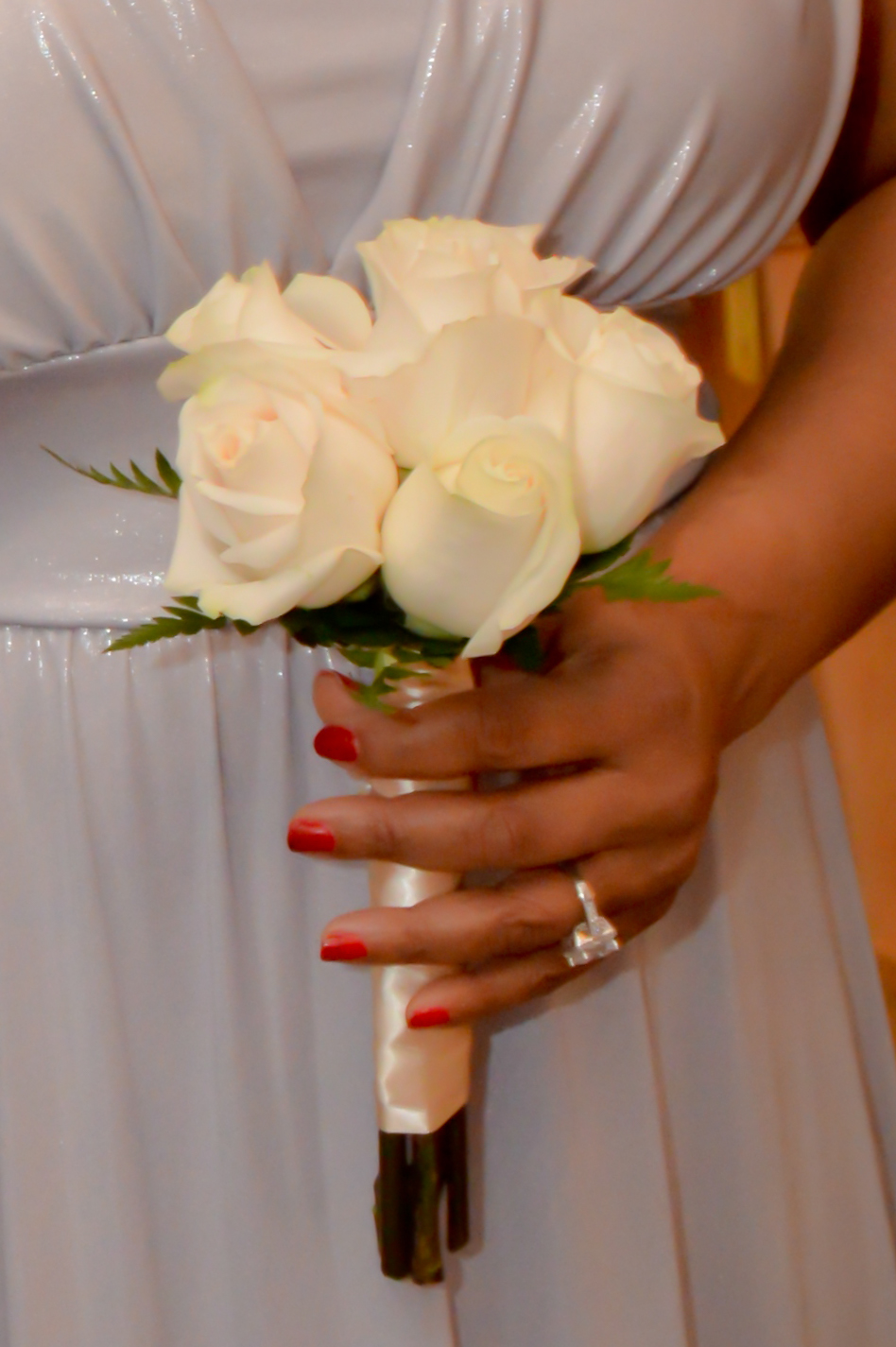 Six Rose Hand Tied Bridal Bouquets  Las Vegas Weddings