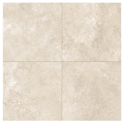 carrelage sol imitation pierre 60x60 travertin beige naturel rect collection tradition monocibec