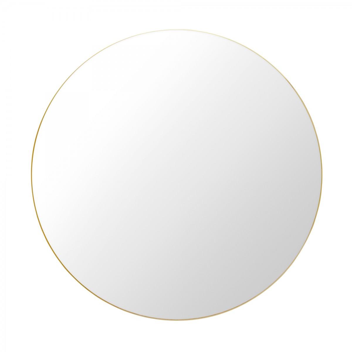 Miroir Rond O110 Cm Laiton Gubi