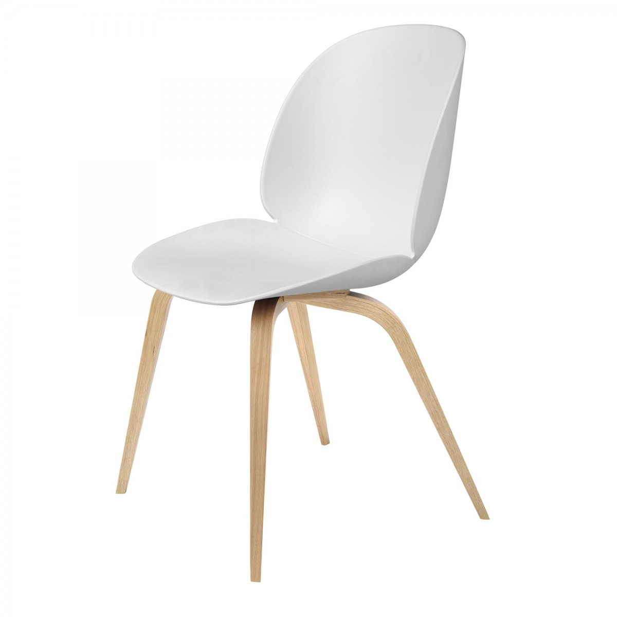 oak and white dining chairs standeasy chair lift beetle gubi