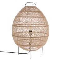WICKER egg floor lamp - HK living
